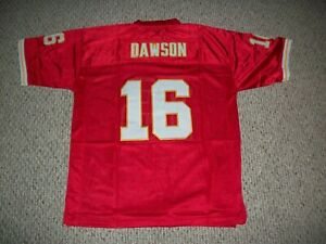 LEN DAWSON Unsigned Custom Kansas City Red Sewn New Football Jersey Sizes S-3XL