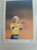 """ex libris de Osi """" revolver"""" 16x22,50 signé n° 193/300 trés bon état"""