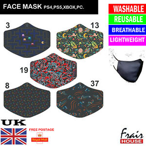 Face Mask PlayStation Pac Man Need for Speed Reusable Protection Cover UK