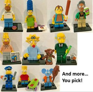 Lego SIMPSONS Mini Figure Homer Bart Ned Lisa Maggie Van Chief  **YOU CHOOSE**