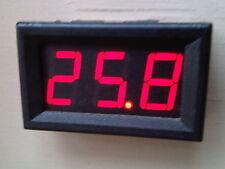 24v Volt Voltage Meter Tester Digital Clock Gauge Panel Dash Caravan Boat Solar