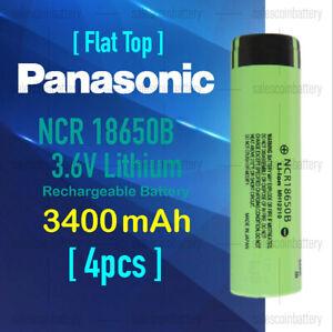 4x Panasonic 3400mAh 3.6v High Drain Rechargeable Li-ion lithium Batter> 3000mAh