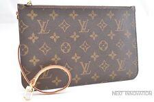 Authentic Louis Vuitton Monogram Neverfull Pouch Purse Clutch LV 35353