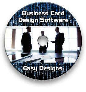 BUSINESS CARD CREATOR MAKER - PROFESSIONAL DESIGN & PRINT WINDOWS SOFTWARE CD