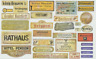 1/35 Paper WWII Shops Tavern Hotel Signs Marks for Diorama 35103