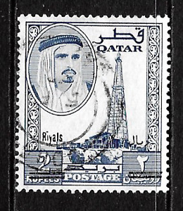 Qatar .. 1966 .. Surcharged stamp .. 2 Riyals on 2 Rupees .. S.G.No.149 .. 7376