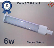 Lámpara Led PL G23 180mm, de 6W, blanco neutro