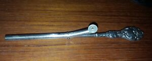 ANTIQUE MOUSTACHE CURLER STERLING HANDLE MOP BUTTON VGC 15cm