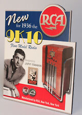 Rca Victor 9K10 Radio Stand up Display John Vassos Design Nipper Dog New York Ny