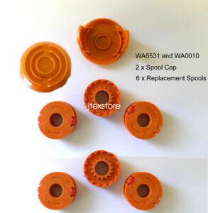 Worx GT Trimmers Replacement Spool WA0010(6) Spool Cap(2) WA6531 WG150 WG165