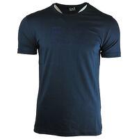 Auténtico Armani Jeans para Hombre Camiseta Azul Marino Moderno Cuello Redondo