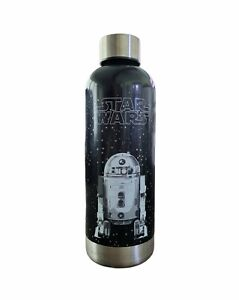 Star Wars Water Bottle Stainless Steel R2D2 William Sonoma Black and Silver