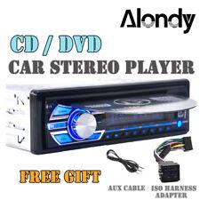 SINGLE DIN IN DASH CAR STEREO RADIO CD DVD MEDIA PLAYER AUX MP3 USB SD FM