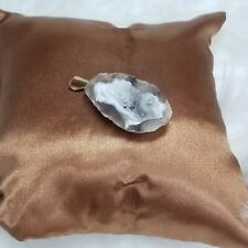 Geode Half Pendant with Clear Crystal 1.5 inch (I-48)