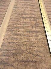 "Waterfall Bubinga Figured wood veneer 7"" x 28""' with wood backer 1/25th"" thick"