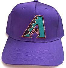 New! MLB Arizona Diamondbacks Purple Embroidered Snapback Cap (Small/Medium)