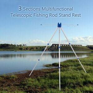 3 Section Multifunctional Fishing Rods Stand Rest Telescopic Tripod Fishing Pole