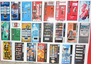 ONE LIGHTED 1:18 SCALE VENDING MACHINE for DIORAMAS/DOLLHOUSES (MAKE SELECTION)