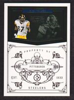 2010 Playoff National Treasures Football #119 Mike Wallace 40/99 Steelers