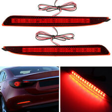 2x Red LED Brake Stop Lights Lamps Rear Tail Bumper Reflector For Mazda 3