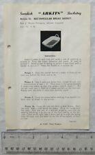 Vintage leaflet: Swedish Arkits Basketry - rectangular bread basket, 55