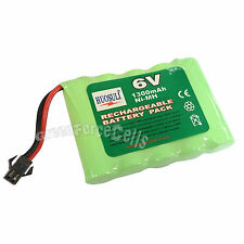 6V 5*AA 1300mAh Ni-MH Rechargeable Battery Pack Connector For RC Toy US Stock