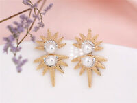Earrings Nails Big Ear Jacket Sun Pearl White Fashion Original XX17