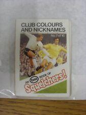1970/1971 Esso: Squelchers - 07 Club Colours & Nicknames, An Esso Mini-Book 16 I