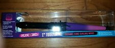Plugged In Heatmaster Ombre Print Clipless Curl Wand Tourmaline Ceramic 1""