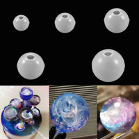 3pc Ball Shape Silicone Mold Resin Jewelry Making Mould Epoxy Pendant Craft Tool