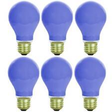 6 Pack Sunlite Incandescent 60 Watt A19 Blue Ceramic Light Bulb