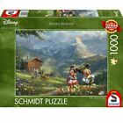 Thomas Kinkade - Disney Mickey & Minnie in the Alps 1000 Piece Schmidt Puzzle