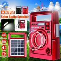 Portable Solar Power Station Generator Power Bank Emergency Light Radio Charger