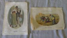 Lot of 2 B.D.V. 1910-25  Old Masters Series Large Cigarette Tobacco Silks