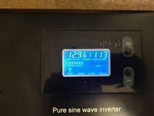 Power Inverter 2000VA 1600W Pure Sine Wave 12VDC to 110VAC 10A charger KW