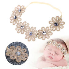 Cute Newborn Girls Baby Kids Toddler Elastic Flower Headband Hair Band Headwear