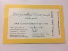 2005 Inauguration President George W. Bush Swearing in Ceremony Yellow Ticket
