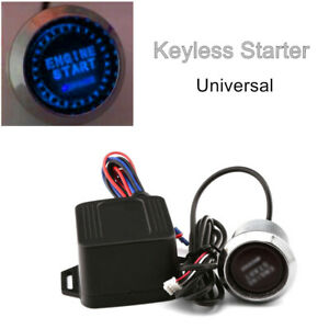 Universal 12V Car Engine Start Keyless Entry Button Switch Lgnition Starter Part
