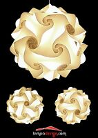 PROMOZIONE Lampadario Fiocco 50 cm + 2 lampade camera da letto. Design Vintage