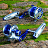 Proberos Fishing Reel Left-Hand Aluminum CNC Machined Trolling Reel Jigging Reel