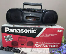 Panasonic RX-FS430 AM/FM Stereo Radio Cassette Player Recorder Boombox ~ NIB