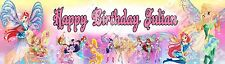 Winx Club Characters Personalized Birthday Name Banner Glossy Art Poster