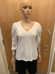 Asos White Long Sleeve Top - UK Ladies Size 10