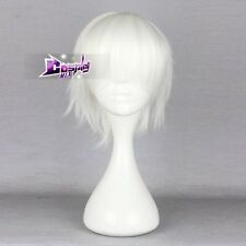 "Future City NO.6 Shion White 12""Short Anime Halloween Cosplay Wig Heat Resistant"