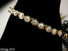 SIGNED SWAROVSKI AB CUT FACETED CRYSTAL BRACELET NWT RETIRED RARE