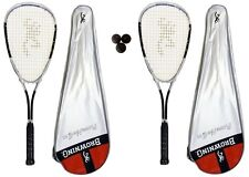 2 x Browning Platinum Nano Titanium 150 Squash rackets + 3 Squash Balls RRP £140