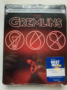GREMLINS 4K + Bluray + Digital BestBuy STEELBOOK