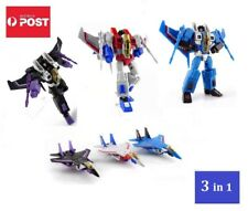 Transformers G1 Style Decepticon Jet Team - Starscream, Thundercracker, Skywarp