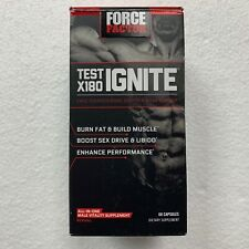 Force Factor Test X180 Ignite Dietary Supplement 60 Capsules EXP. 2021+ NEW