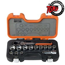 Bahco 14 Piece Go-Through Locking Reverse Socket Set with Heavy Duty Case S140T